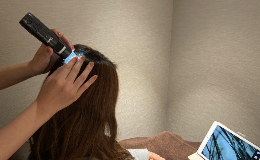 上本町リコンテ 頭皮診断 ヘッドスパ